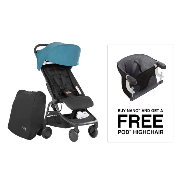 enjoy a free pod highchair when you buy nano travel buggy and save