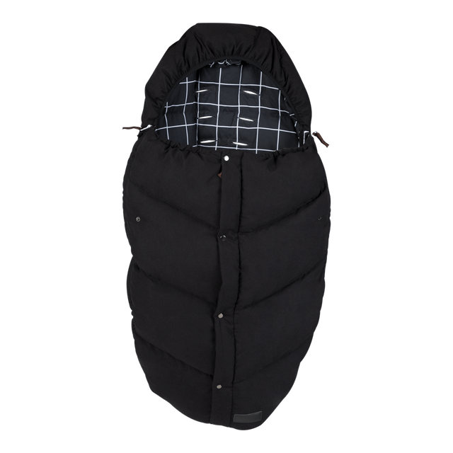 Mountain Buggy luxury down sleeping bag in colour grid_grid