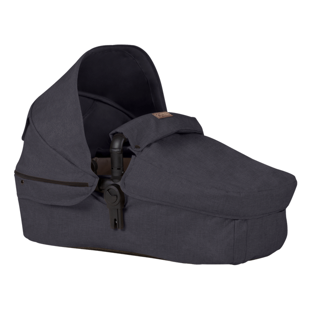 Mountain Buggy cosmopolitan larger size carrycot in colour ink_ink