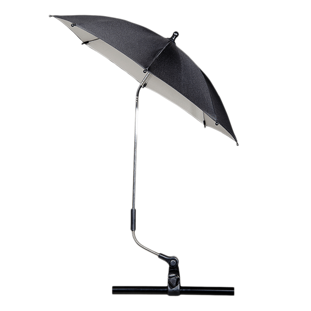Mountain Buggy parasol umbrella fully opened_black