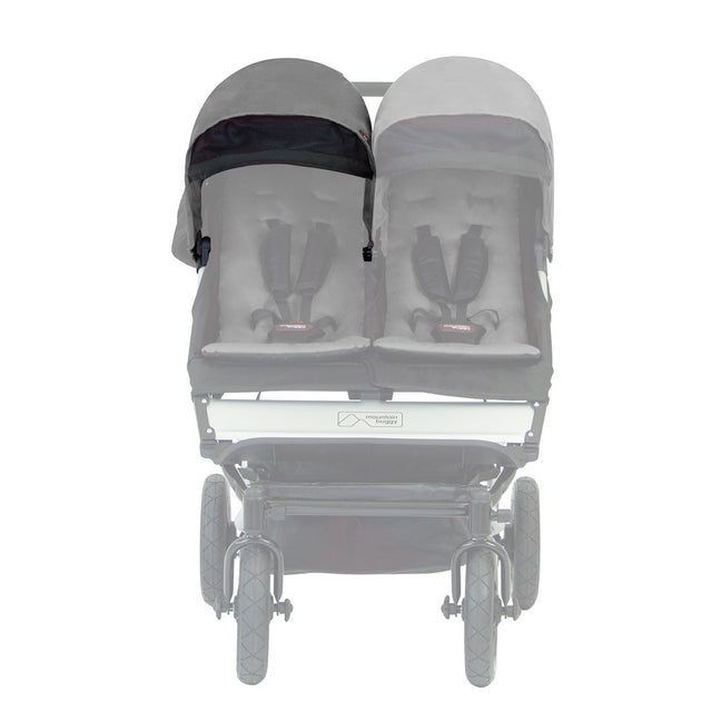 Mountain Buggy duet 2.5 sunhood ghosted_black