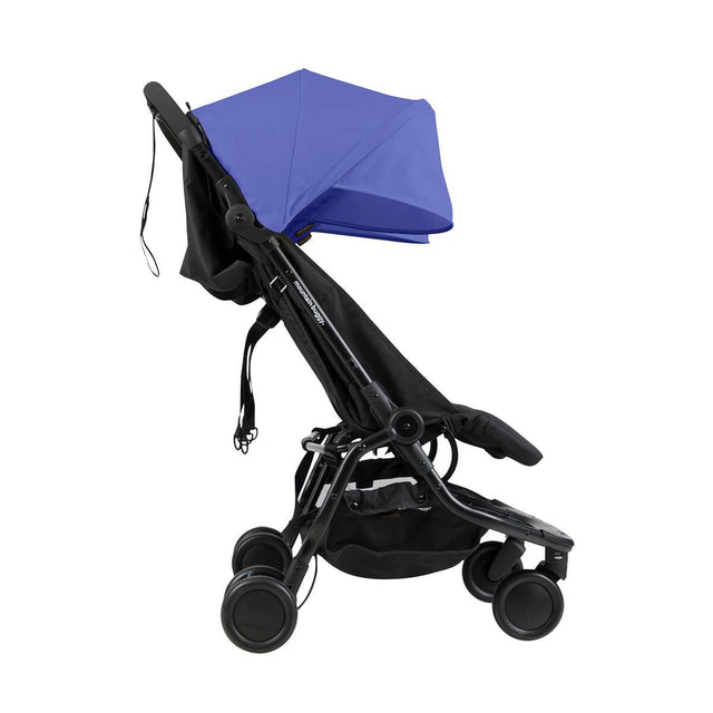 Mountain Buggy nano duo double lightweight buggy side view in colour nautical blue_nautical blue