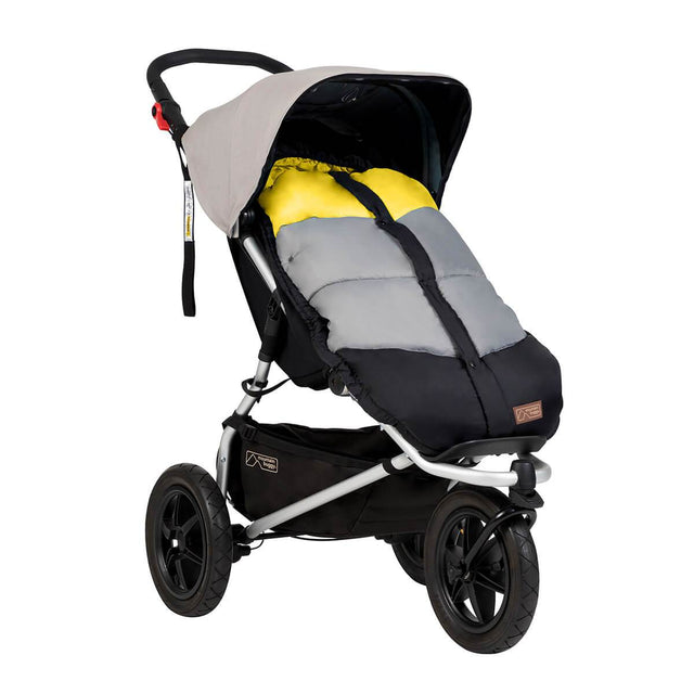 Mountain Buggy durable soft peach lined sleeping bag fitted to an urban jungle in colour cyber_cyber