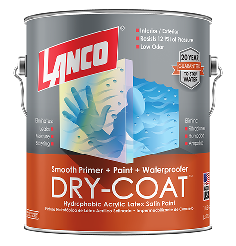 Lanco Dry-Coat Smooth Satin Interior/Exterior (Pintura Impermeabilizante Liso-Satinado)