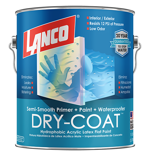 Lanco Dry-Coat Semi-Smooth Flat Interior/Exterior (Pintura Impermeabilizante Semi-Lisa Mate)