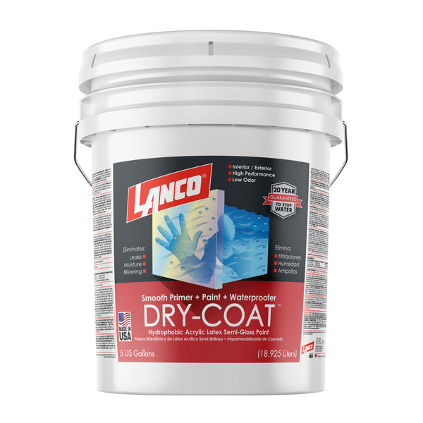 Lanco Dry-Coat Smooth Semi-Gloss Interior/Exterior (Pintura Impermeabilizante Liso-Semi-Brillosa)