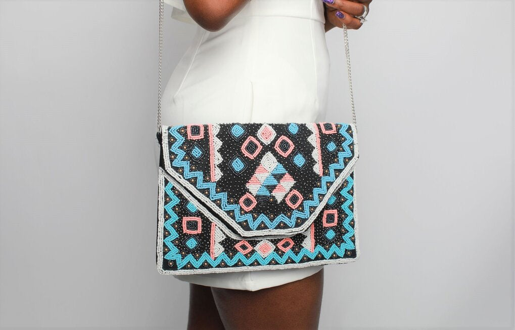'Aniq' Beaded Clutch