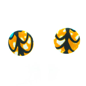 'Chinara'  Studs - (Orange/Multi)