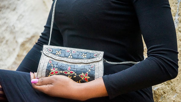 'Bhalo' Metal Mosaic Bag