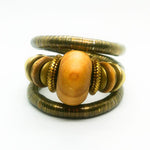 'Zopa' Coil Bangle (Bronze/Wood)