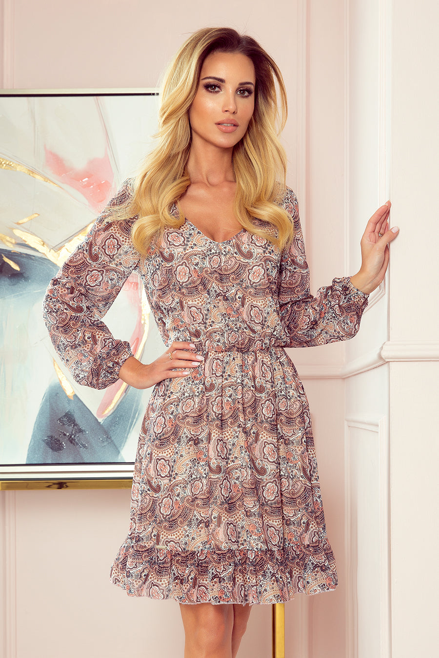 Flimsy Dress with Boho Pattern 2951