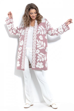 Oversized Floral Knitted Cardigan 146856