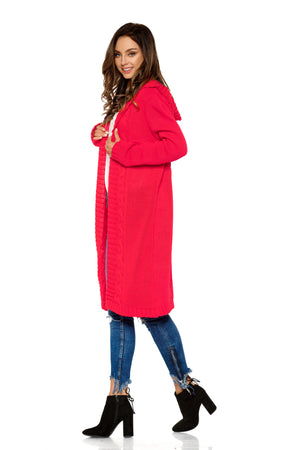 Raspberry Cardigan with a Hood 4374611