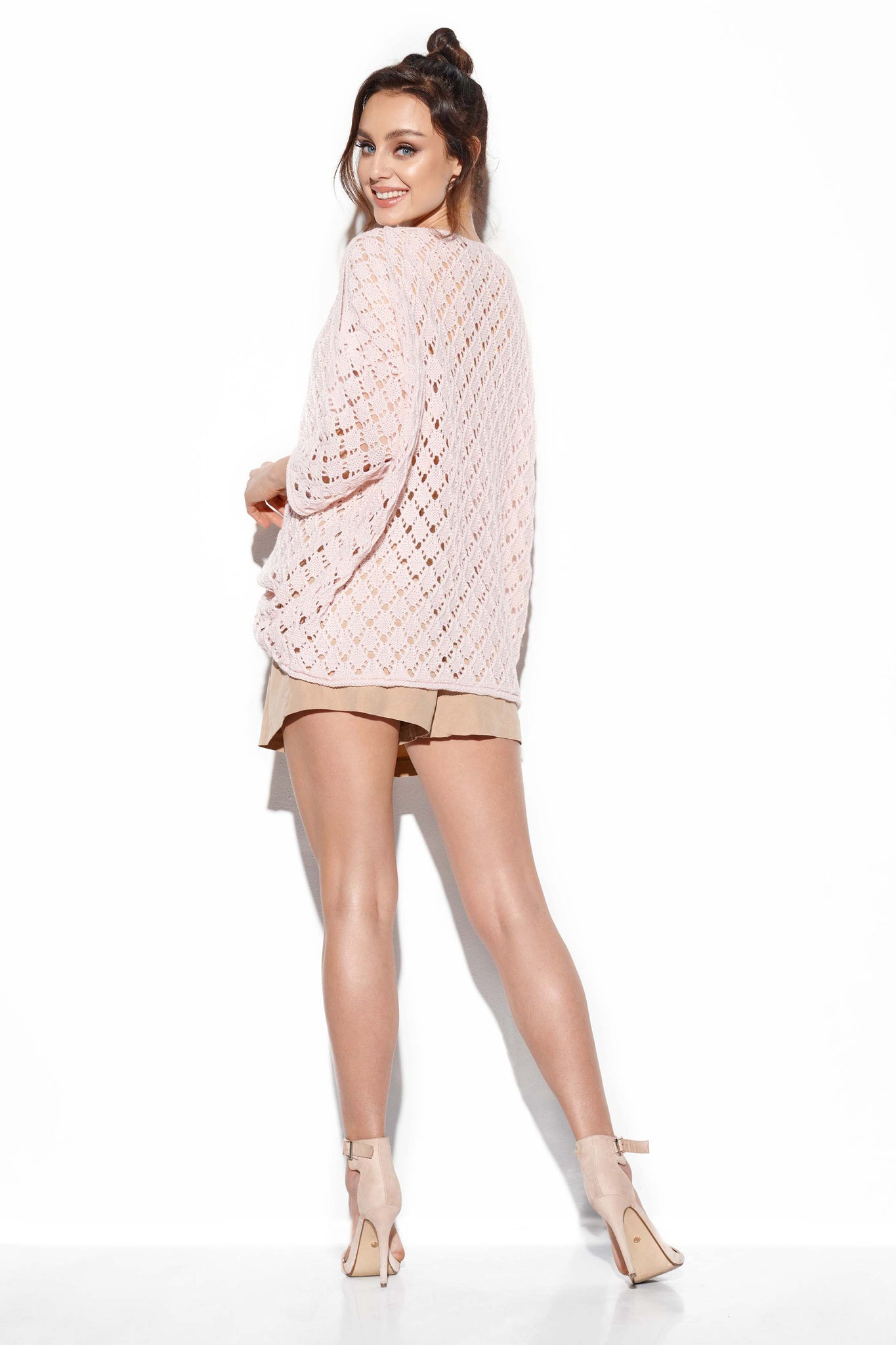 Openwork Sweater with Bare Shoulders 4357511