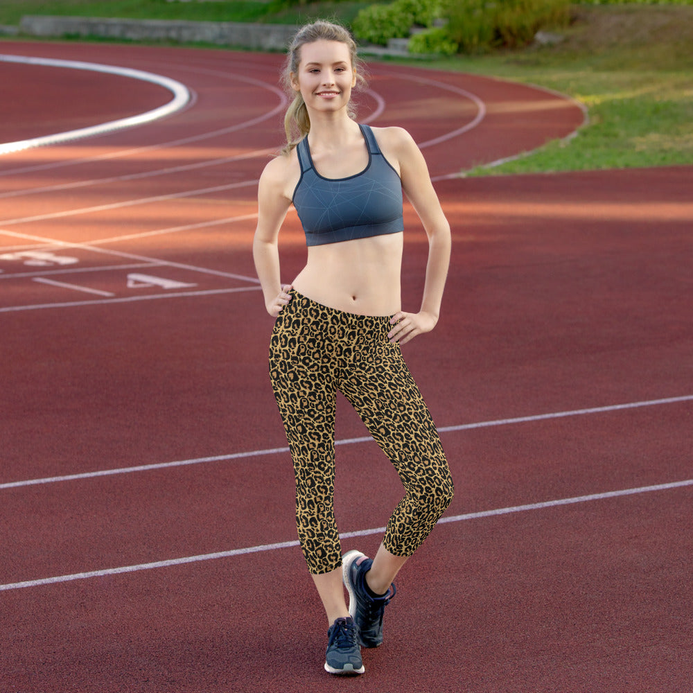Leopard Capri Leggings MG1904