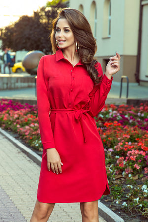 Red Dress with Pockets 137227