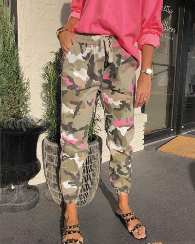[Last day promotion, 50% OFF]NEON CAMO JOGGERS - bightstore
