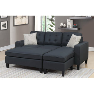 Ellensburg Reversible Sectional with Ottoman by Ebern Designs