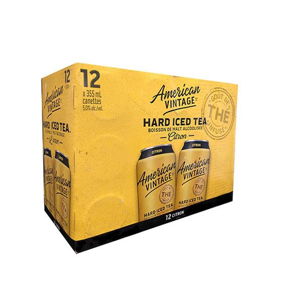 American Vintage Hard Iced Tea Lemon 12 Pack Cans