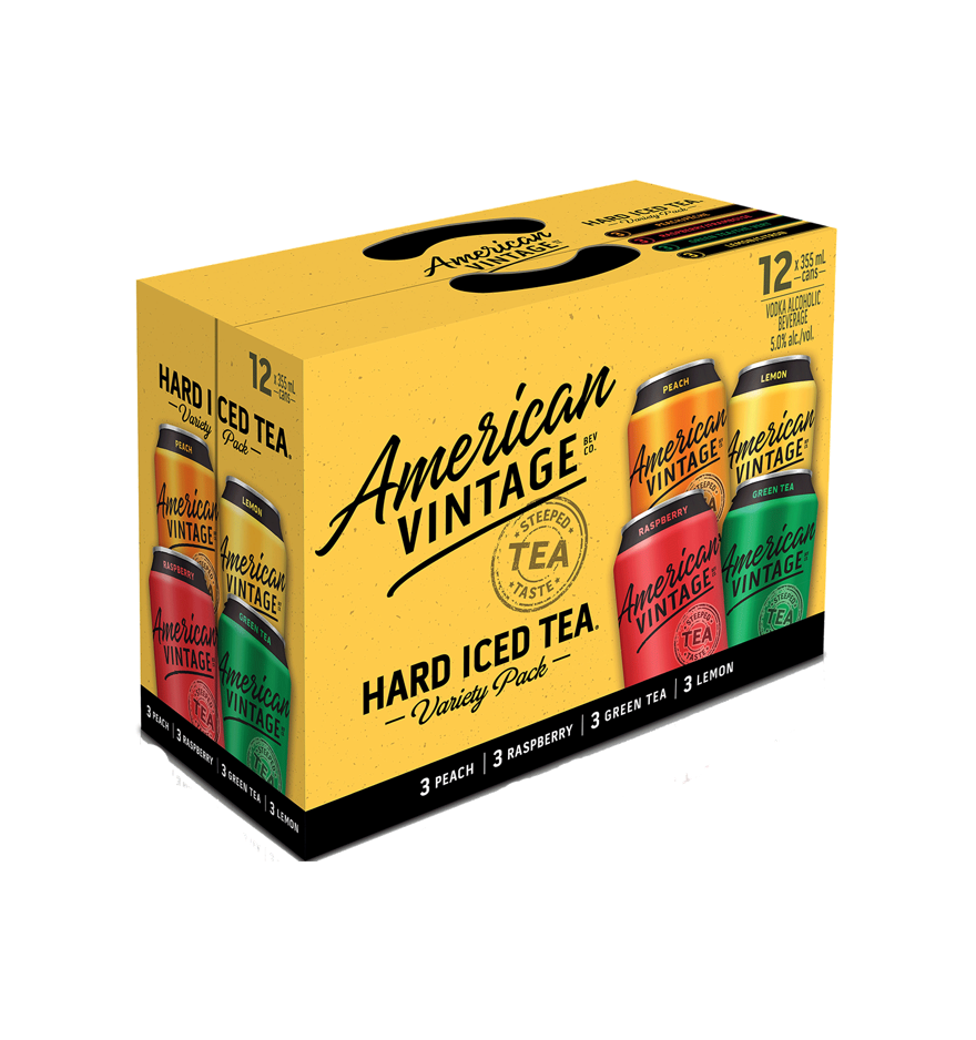 American Vintage Iced Tea Mixer 12 Pack Cans