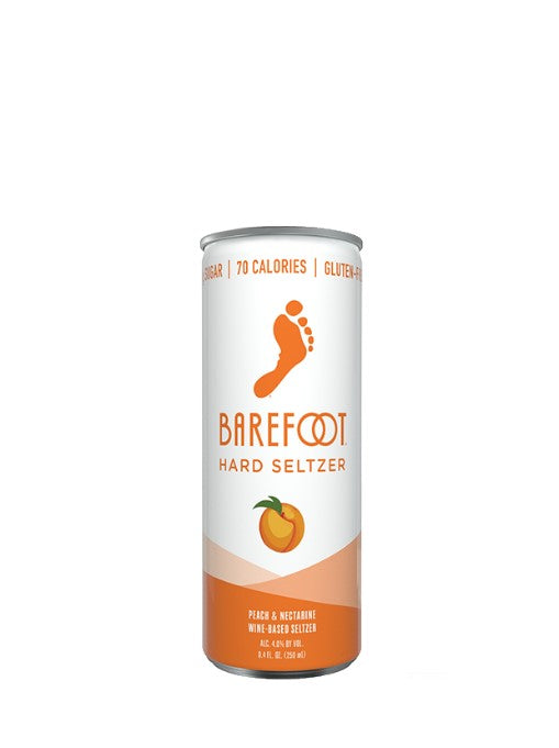 Barefoot Peach & Nectarine Hard Seltzer 4 Pack Cans 250ML