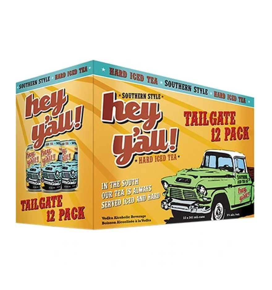Hey Y'All Tailgate Hard Iced Tea 12 Pack Cans