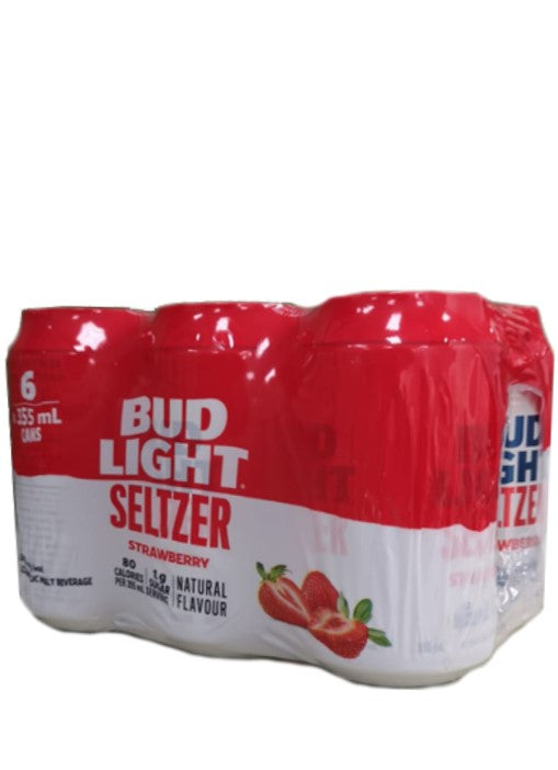 Bud Light Seltzer Strawberry 6 Pack Cans