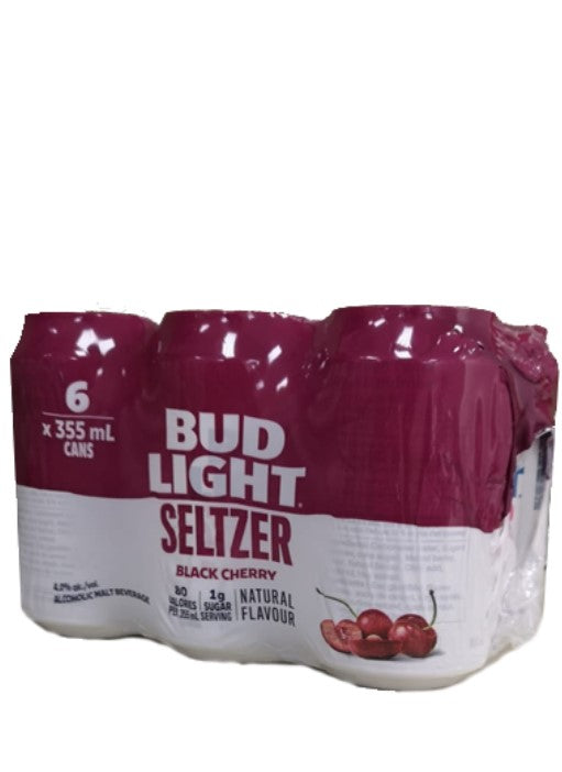 Bud Light Seltzer Black Cherry 6 Pack Cans