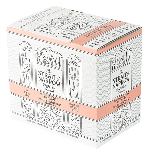The Strait & Narrow Grapefruit Rosemary 6 Pack Cans