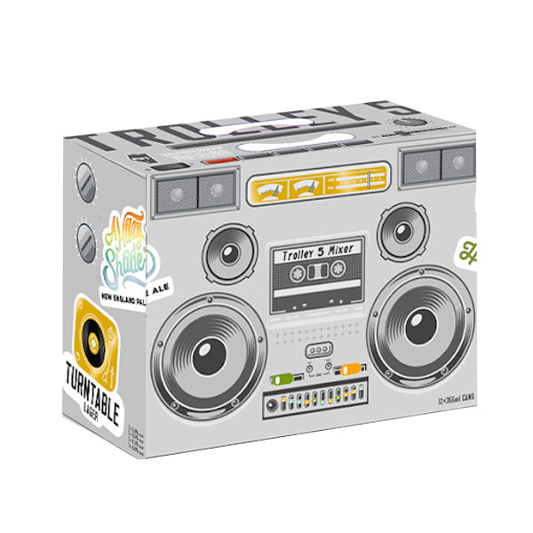 Trolley 5 Boom Box Variety Mixer 12 Pack Cans