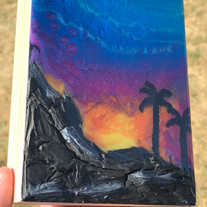 Sunset Landscape Resin Abstract