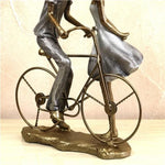 Sculpture Moderne <br/> Couple à Vélo