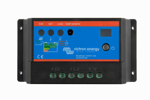 Victron BlueSolar Charge Controller 12/24V-10A, Auto Select Voltage