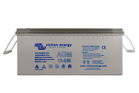 Victron 12V 230Ah AGM Super Cycle Battery M8-insert style terminal