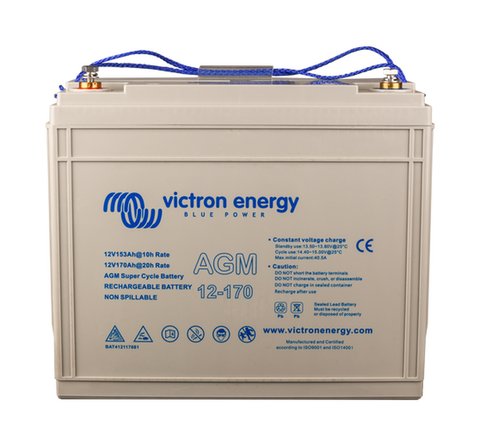 Victron 12V 170Ah AGM Super Cycle Battery M8-insert style terminal