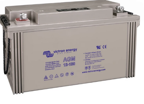 Victron 12V 130Ah(C20) AGM Deep Cycle Battery M8-insert style terminal