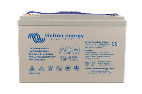 12V/125Ah AGM Super Cycle Battery (M8)
