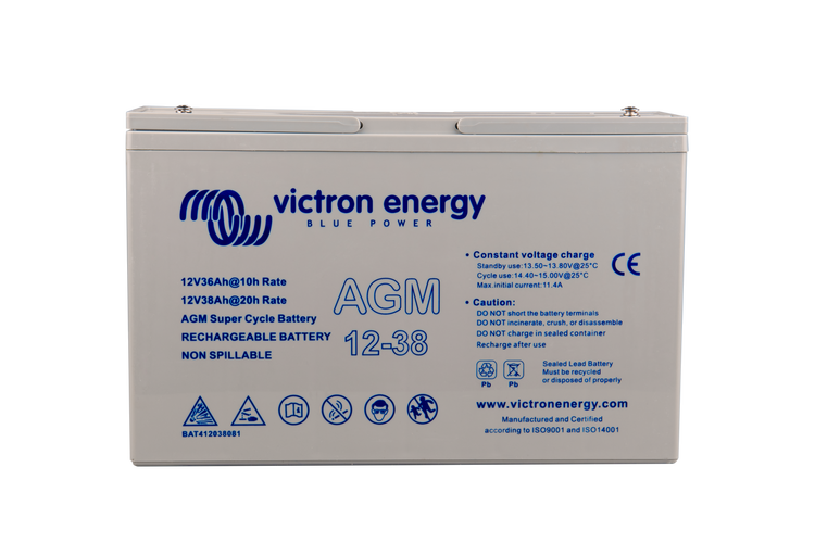 12V/38Ah AGM Super Cycle Battery (M5)