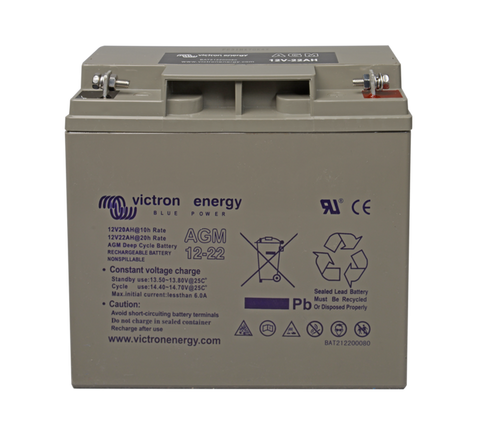 Victron 12V 22Ah(C20) AGM Deep Cycle Battery