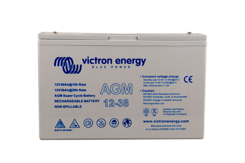 Victron 12V 35Ah(C10)/38Ah(C20) AGM Deep Cycle Battery