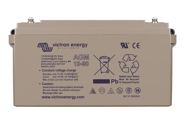 Victron 12V 90Ah AGM Deep Cycle Battery M6-insert style terminal