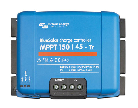 Victron BlueSolar Charge Controller 12/24/36/48V-150/45-Terminal Clamp Connection
