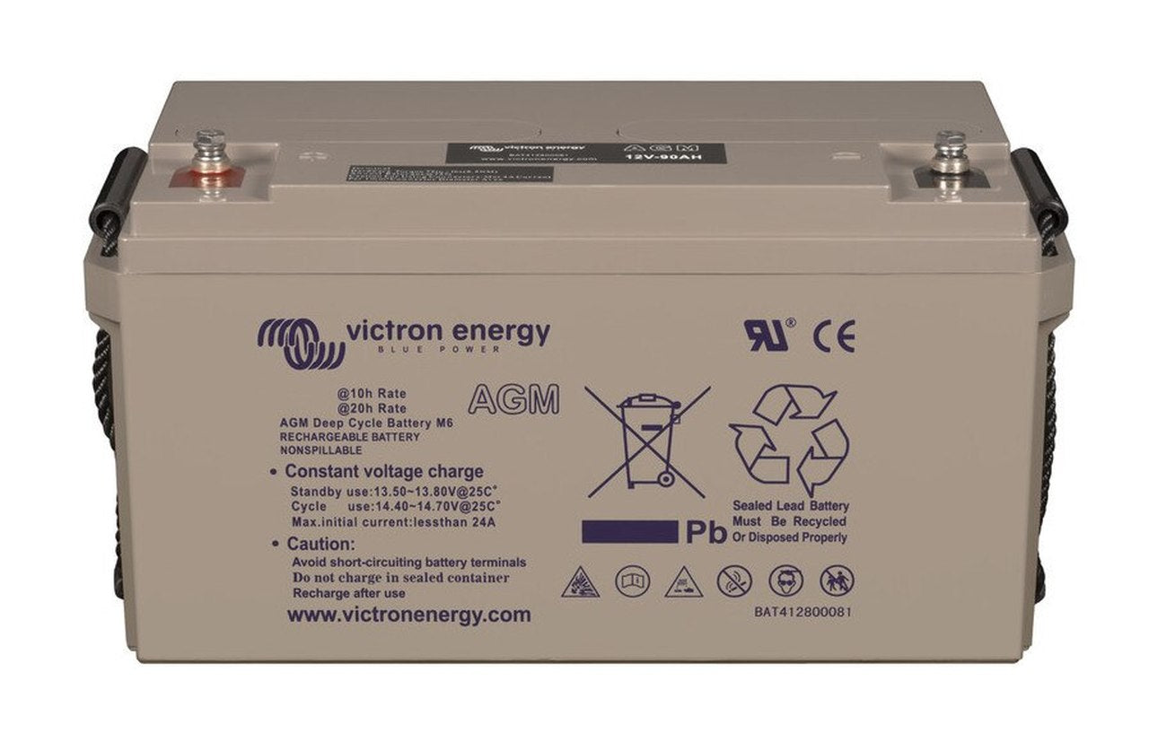 Victron 12V 100Ah(C10)/110Ah(C20) AGM Deep Cycle Battery - M8 insert style terminal