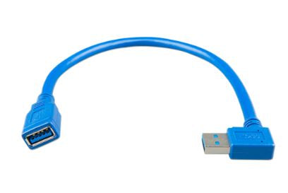 USB extension cable 0,3m one side right angle