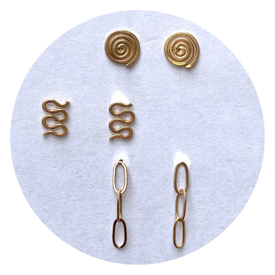 Squiggle studs - Wholesale