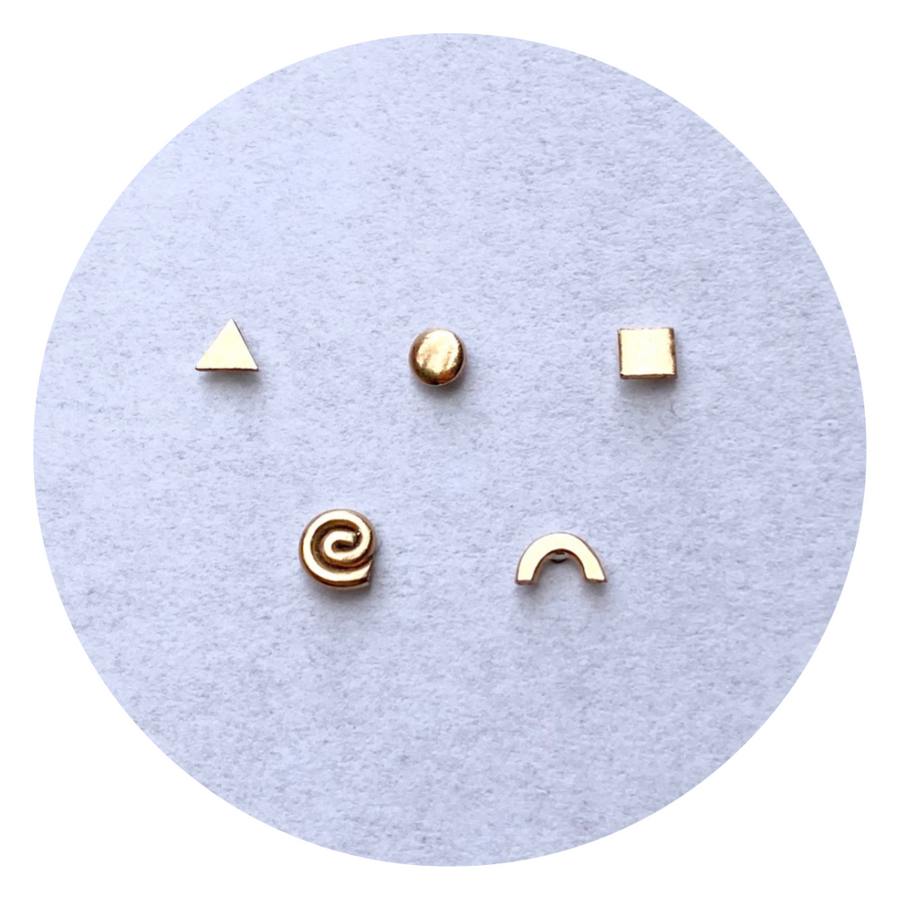 Teeny Tiny Square Studs