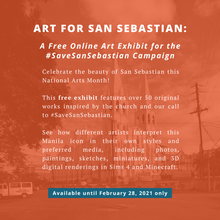 Load image into Gallery viewer, Admission to Art for San Sebastian: A Free Online Art Exhibit to #SaveSanSebastian