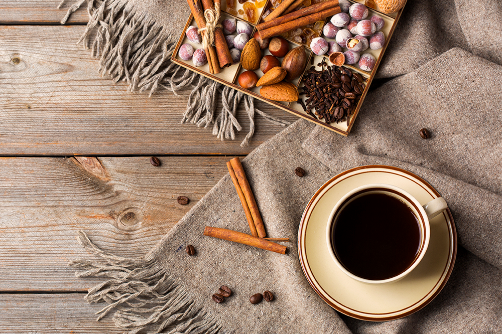 hot drinks and snacks