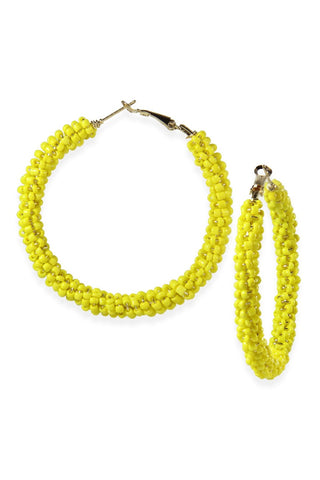 'Reyes' Yellow Beaded Earrings