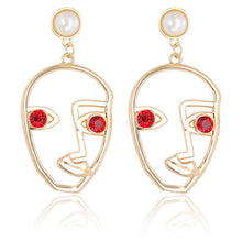 Load image into Gallery viewer, 'Arie' Face Drop Earrings
